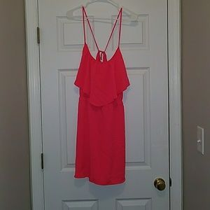 Cute coral dress with pockets!